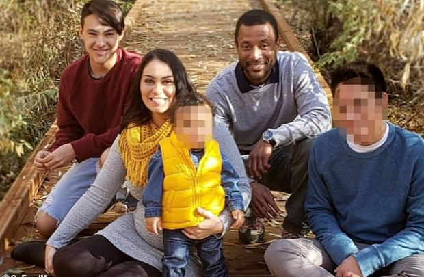 Michael Coleman [second right], Rachel Ozuna [second left] and her son Kyrrus Ozuna [left] 2