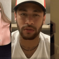 Rape OR entrapment? Model who claims she was raped by Brazilian football star Neymar is filmed hitting him in hotel room a day after alleged attack - Najila Trindade Mendes de Souza has accused the PSG star of assaulting her during a Paris tryst