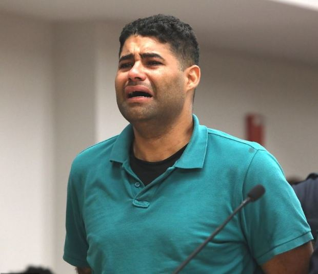 A disconsolate Juan Rodriguez wailed in agony as prosecutors detailed how his babies bodies each reached a temperature of 108F