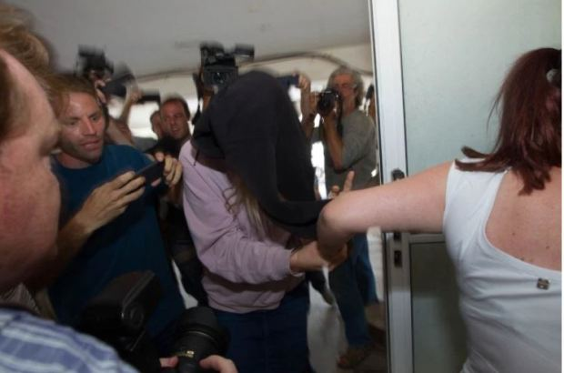 Fake rape accuser arrives in court in Cyprus on July 29 2