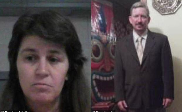 Jennifer Via [left], killed her husband Thomas Via [right] 2