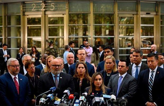 Joaquin El Chapo Guzman prosecutors celebrate victorry after sentencing 1
