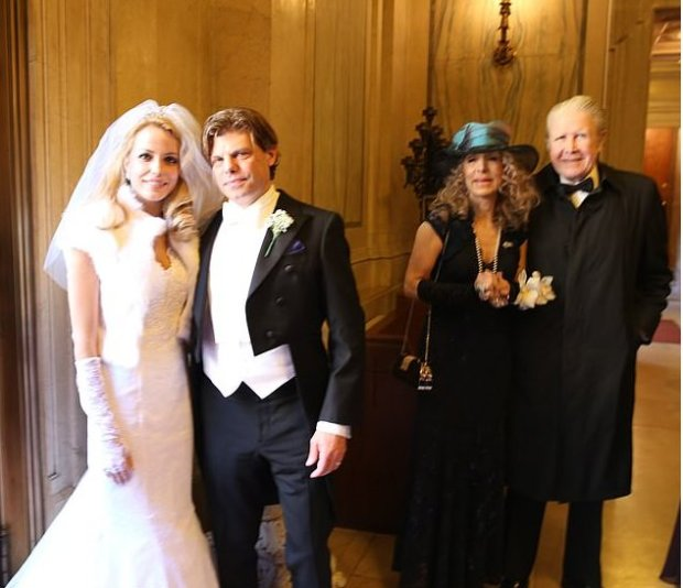 Julianne Michelle, and Karl Christian Reeves, wedding with bride's parents Countess Joycelyn Engle and Count Joseph Di Palma 1