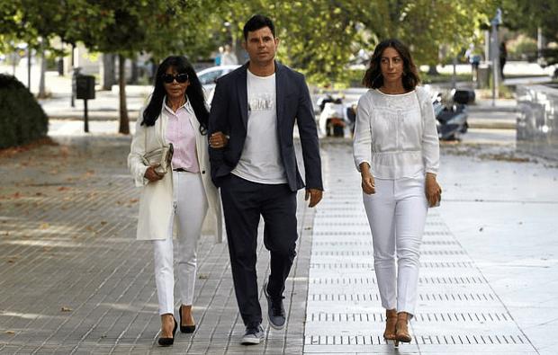 Maria Edite [left], her sonJavier Sanchez-Santos [center] and his girlfriendChiara 1