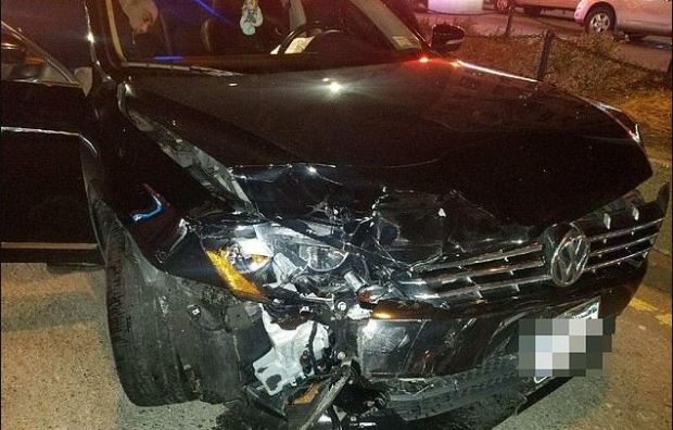Maria Mendez's vandalized vehicle