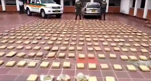 Colombian police discover cannabis haul hidden in a coffin 3