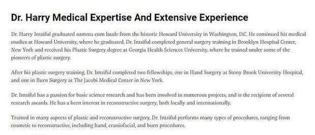 Dr. Harry Intsiful's online resume
