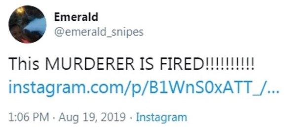 Emerald Snipes tweet 1