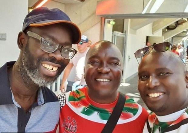 Ken Okoth [left], with Mike Sonko [right] 1
