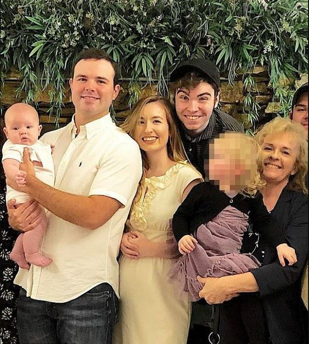 L to R, Blake Bivens with his son Cullen, wife Emily Bivens, Matthew Bivens and their mother, Joan Bernard