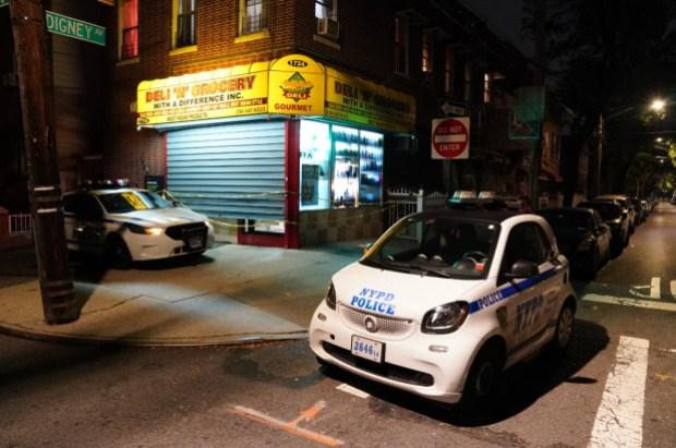 Police descend on Bronx, NY bodega searchig for kidnap suspect Richard Millwood.jpg