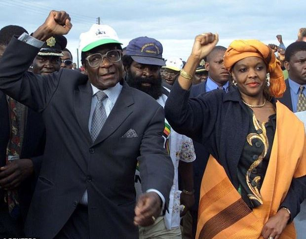 Robert and Grace Mugabe 3