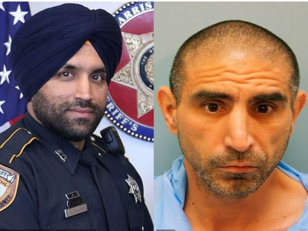 Sandeep Dhaliwal, [left], was shot dead by Robert Solis [right] 1
