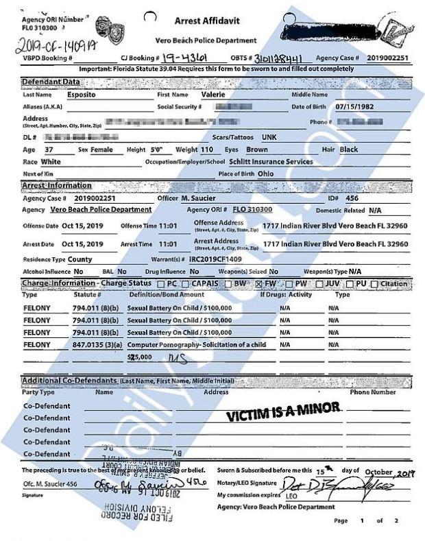 Arrest Warrant for Valerie Esposito 1.JPG