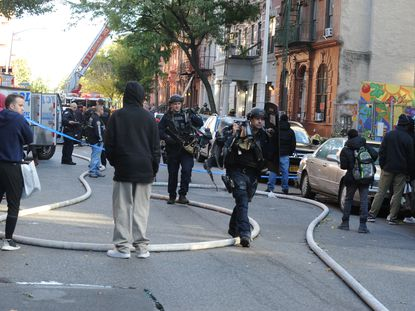NYPD arrive at homicide scene in Harlem, NY on Friday Oct 18 4.jpg