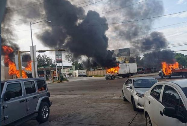 Scene of Chao after Sinaloa Cartel gunmen engage Mexico security forces in gunfight 1.JPG