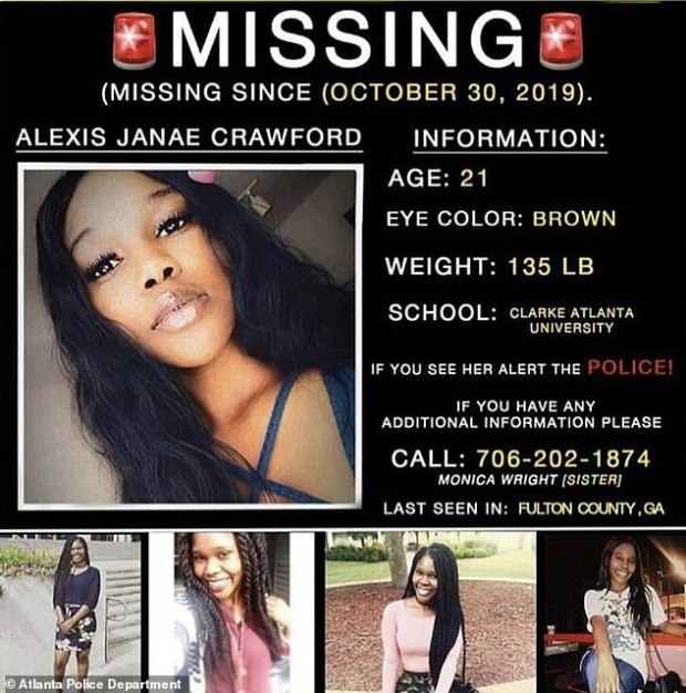 Alexis Crawford missing person flyer 2