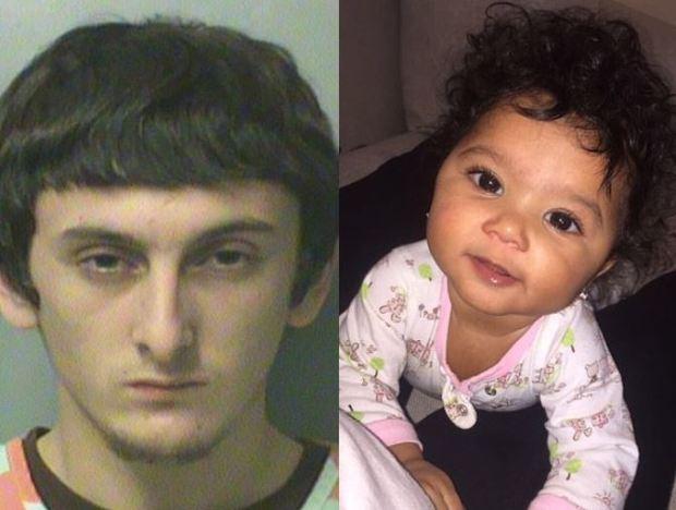 Jayden Straight, 19, and his eight-month-old baby girlRaija Straight 1