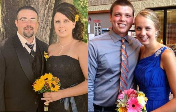 Nick Diemel with his wife, Lisa Diemel [left], Justin Diemel with girlfriend Taylor Moeller [right] 1