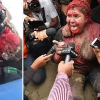 Culture of 'Public lynching' bothers Bolivia's president after protesters drag mayor through streets, cut her hair and cover her in red paint
