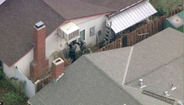 Police at Nathaniel Berhow's family home 1