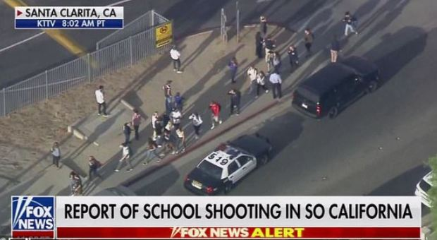 Shooting at Saugus High School on Centurion Way in Santa Clarita, Calif
