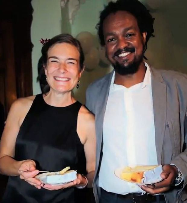 Yonathan Tedla [right] f his wife,Jennifer Schlecht [left] 3
