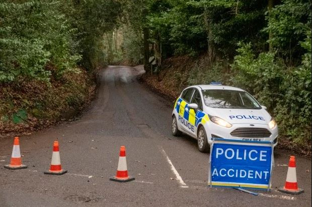 Dibden Lane in in Kent, Gloucestershire, UK  where the twin brothers Billy and Joe Smith were found dead 2