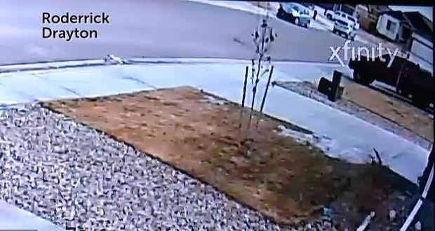 Surveillance footage shared by a neighbor allegedly shows Gannon entering a car with his stepmother