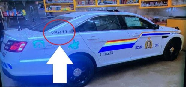 Gabriel Wortman's fake police car