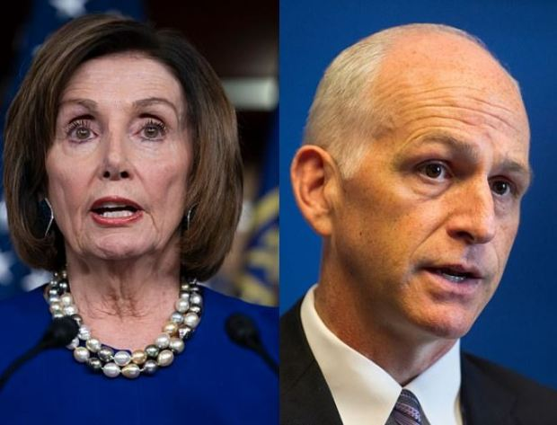 Speaker Nancy Pelosi [left], and Democratic Rep. Adam Smith, ]right] 1