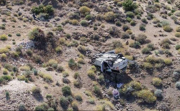 Adam Slater' overturned vehicle 1