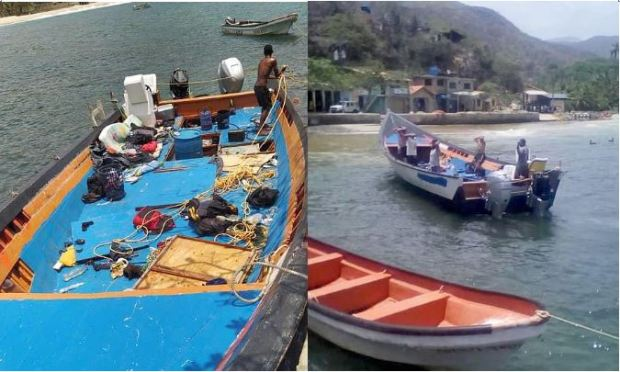 Fishing boat used by Americans Luke Denman and Airan Berry as they attempted to enter Venezuela 1