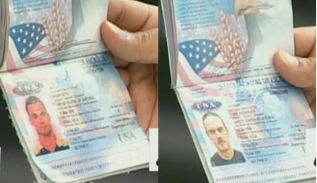 Luke Denman and Airan Berry's passports displayed in Venezuela 1