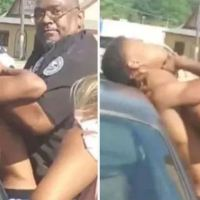 Jackson police officer is placed on leave after video emerges showing him 'choking' a suspect as onlookers yell 'he can't breathe'