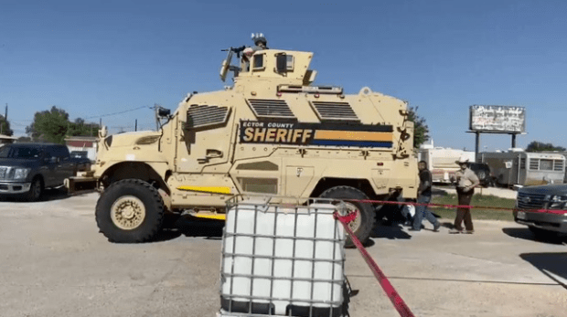 Odessa Sheriff's SWAT team raid Open Texas protest 1