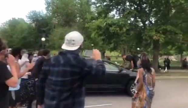 SUV driver targets and runs over Justice 4 George Floyd protester 10