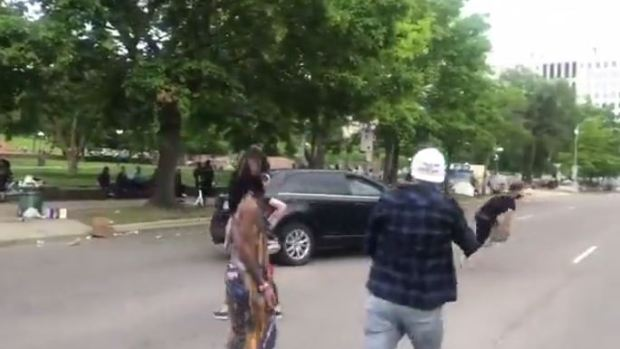 SUV driver targets and runs over Justice 4 George Floyd protester 9
