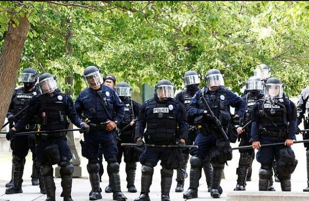 Aurora police in anti-riot gear