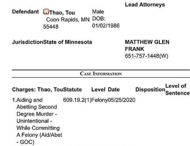 Charges against Tou Thao 1