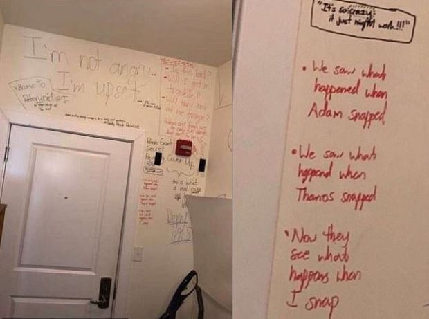 Peter Manfredonia scrawled scary messages in his apt 1