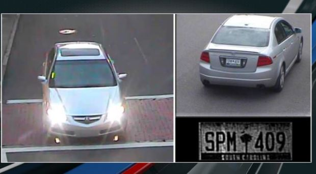 Charleston police officials have released pictures of a vehicle sought in connection to the killing of Tom Atlantis 3