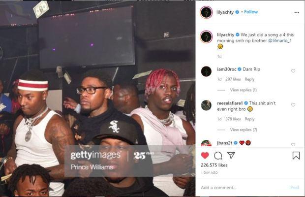 Lil Yachty tweet on killing of Rudolph Johnson aka Lil Marlo 2