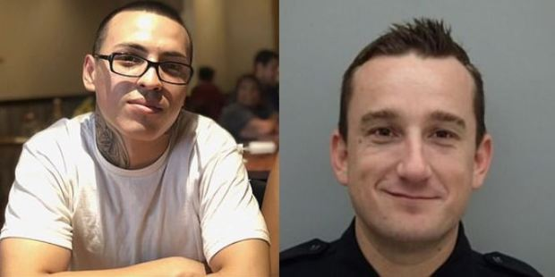 Sean Monterrosa [left] was shot dead by  Detective Jarrett Tonn, [right] 1