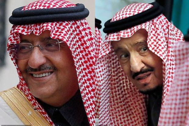 Mohammed bin Nayef [left], and King Salman [right] 1