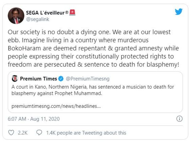 Nigerians react to Death Sentence of Yahaya Aminu Sharif by the Sharia Court 8