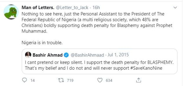 Nigerians react to Death Sentence of Yahaya Aminu Sharif by the Sharia Court 9