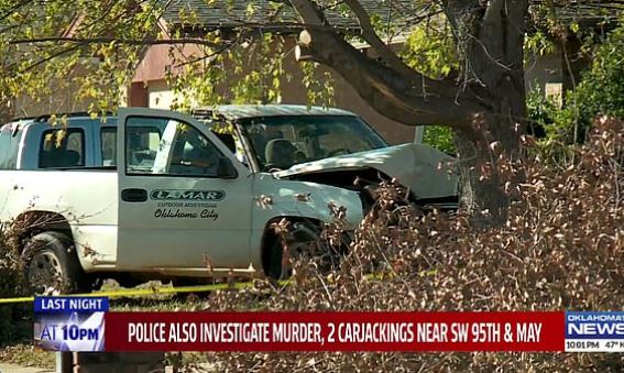This image has an empty alt attribute; its file name is The-owner-of-this-white-pickup-truck-was-murdered-by-Brandon-Milburn-during-his-crime-spree.jpg