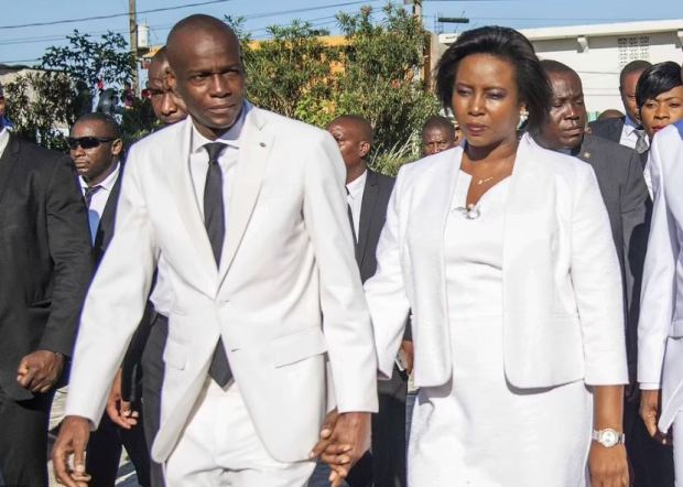 This image has an empty alt attribute; its file name is Jovenel-Moise-and-Martine-Moise-1.jpg