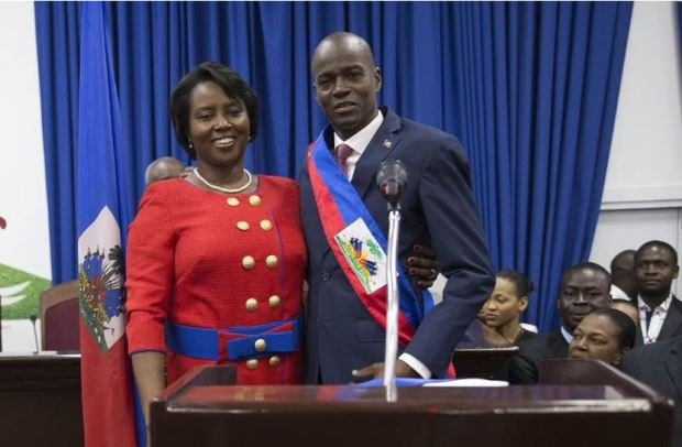 This image has an empty alt attribute; its file name is Jovenel-Moise-and-Martine-Moise-2.jpg